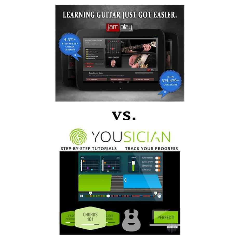 Yousician VS Jam Play Online Lesson Comparison