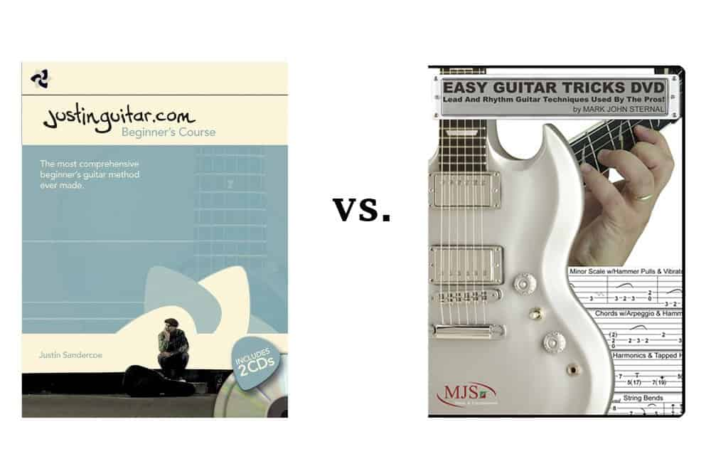 Guitar Tricks VS Justin Guitar Online Lesson Comparison