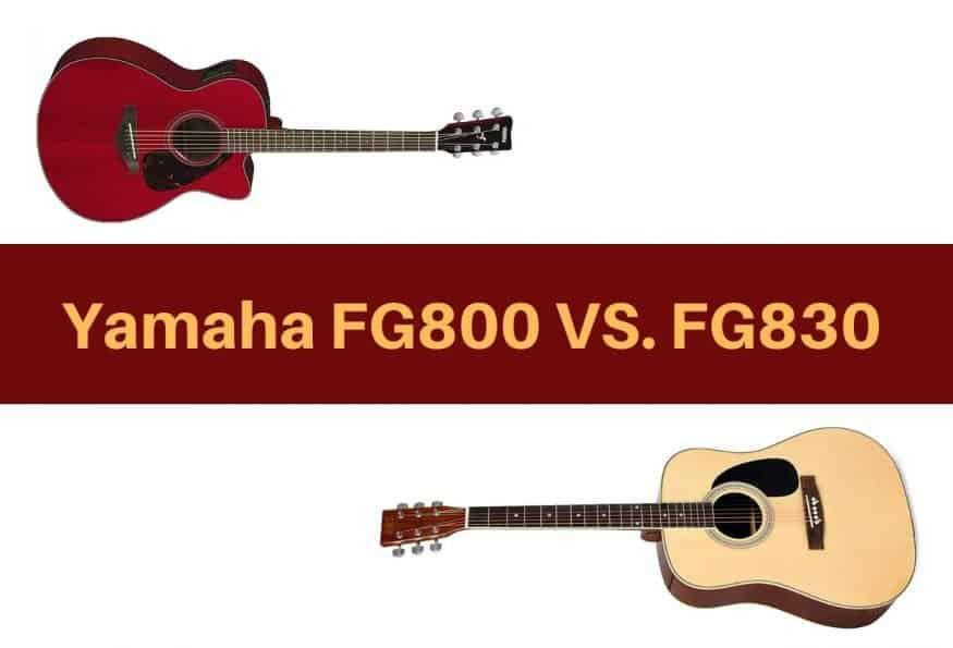 The Yamaha FG800 VS. FG830