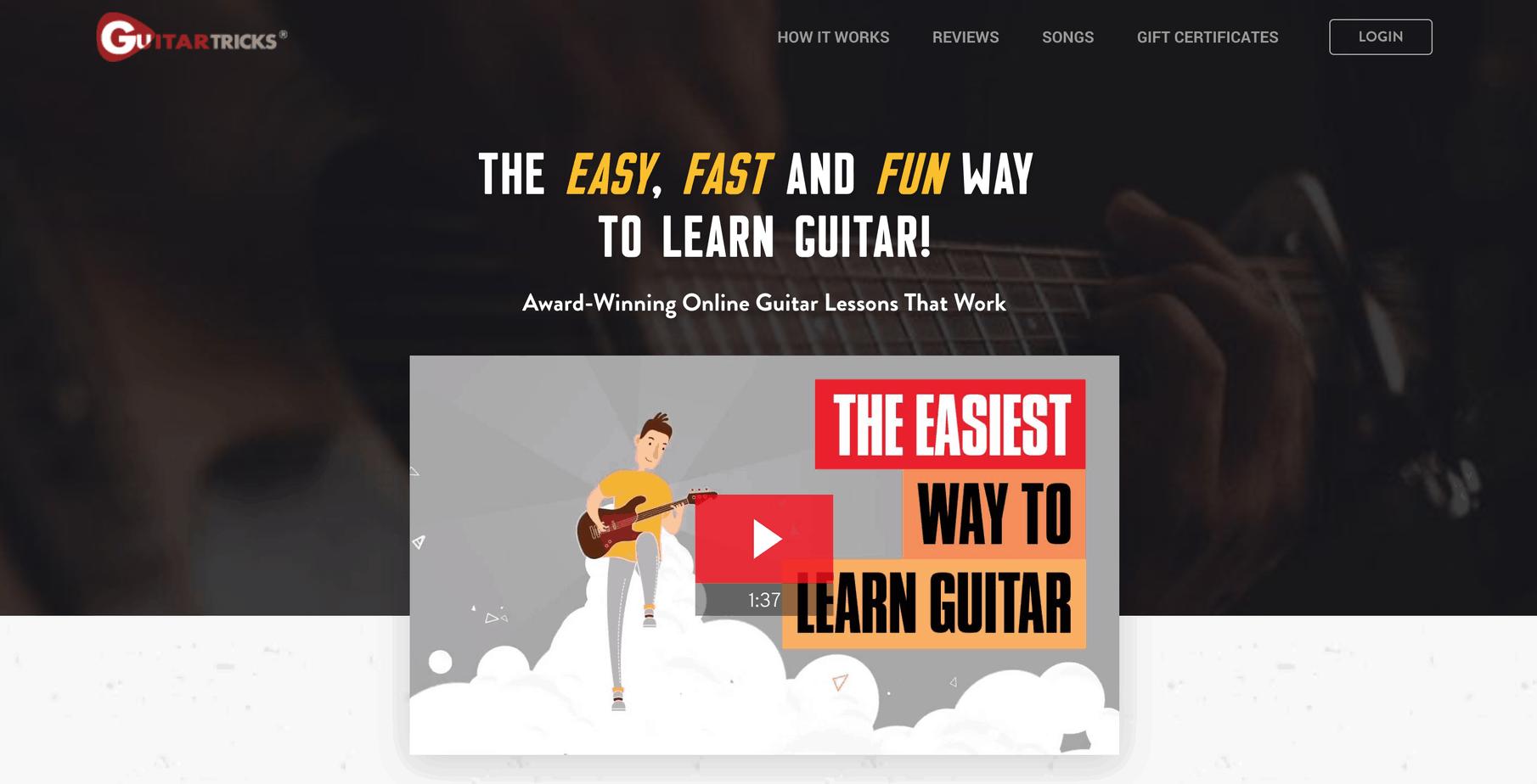 guitar tricks homepage