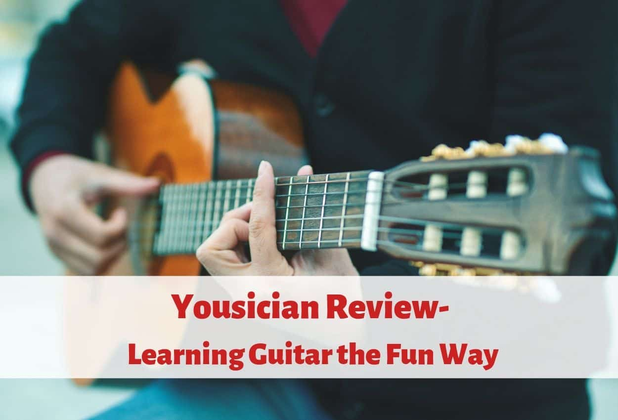 Man using yousician to Learn Guitar the Fun Way