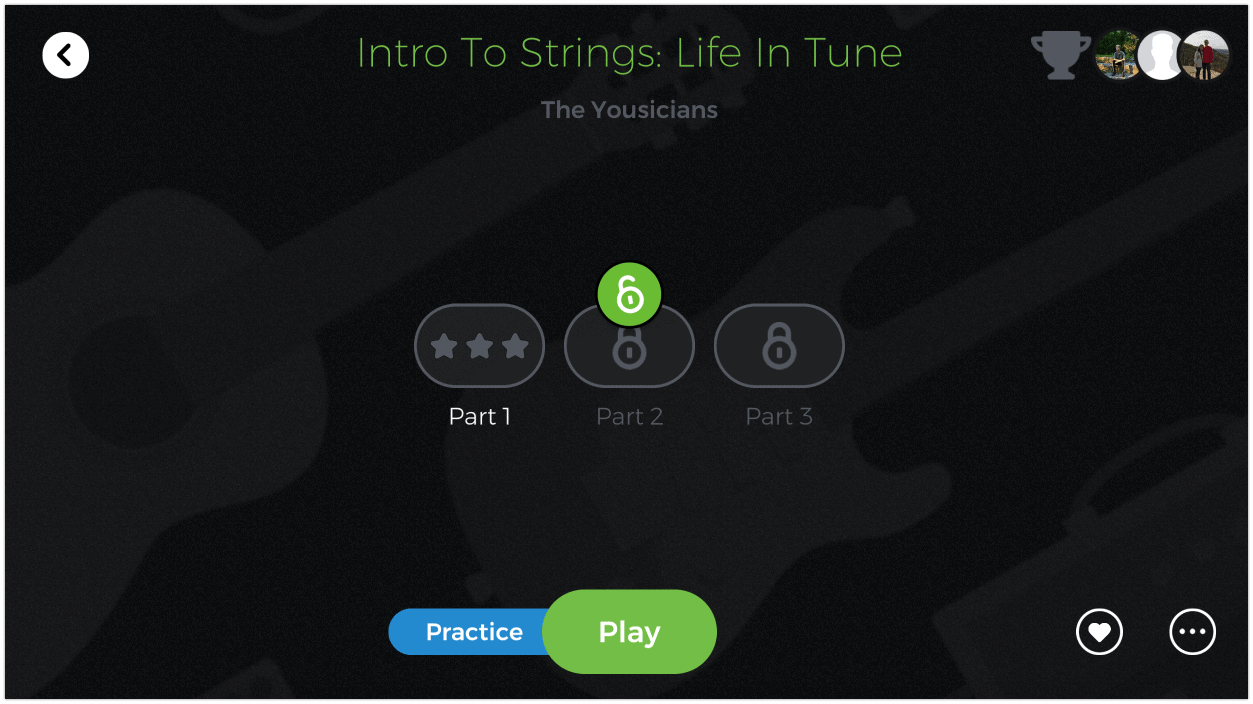 Intro to strings practice play mode