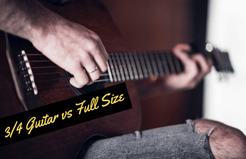 3/4 Guitar vs Full Size