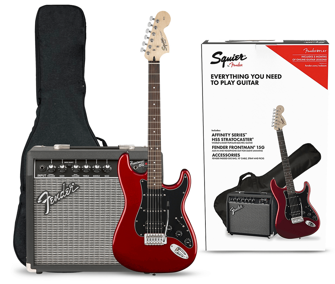 Squier Affinity Series Stratocaster Electric Guitar Pack | Guitar Center