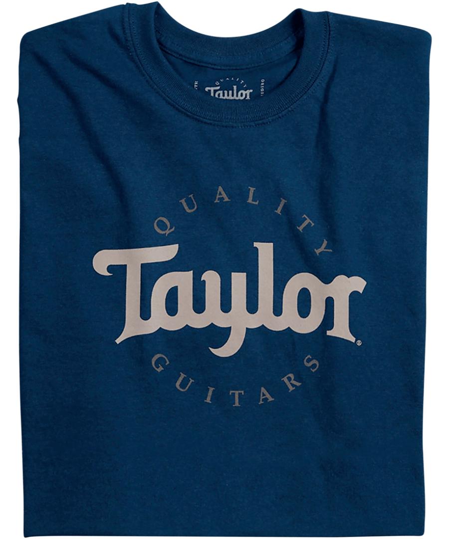 Taylor Two-Color Logo Tee Medium Navy | Guitar Center