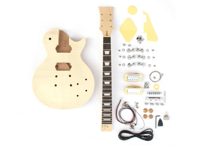 DIY Electric Guitar Kit Singlecut Maple Mahogany Style | The Fretwire