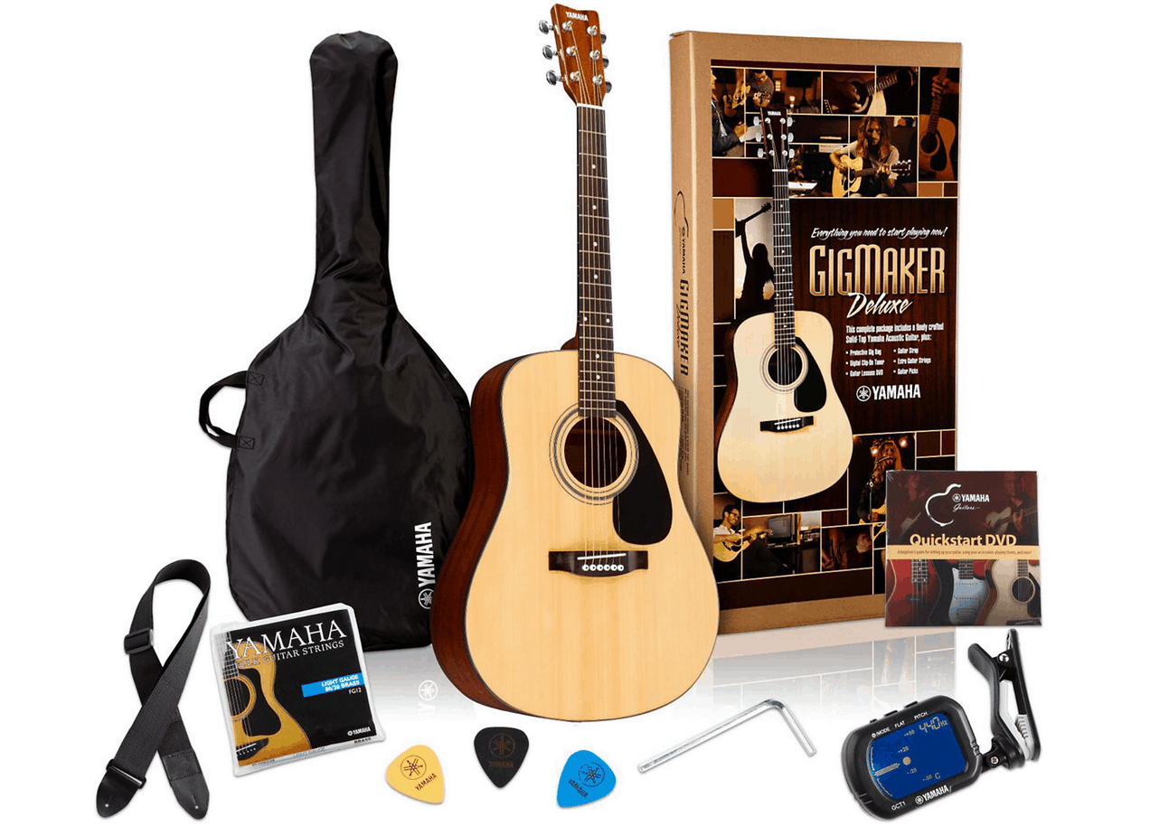 Yamaha GigMaker Deluxe Acoustic Guitar Pack FD01S | Guitar Center