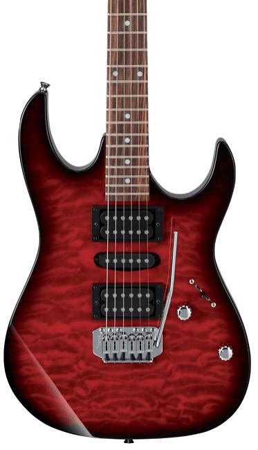 Ibanez GRX70QA Electric Guitar Transparent Red Burst | Guitar Center