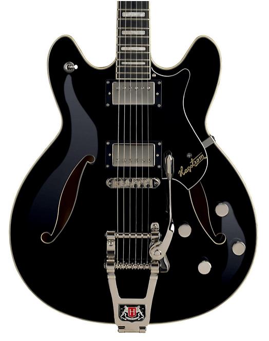 Hagstrom Tremar Viking Deluxe Electric Guitar Gloss Black | Guitar Center