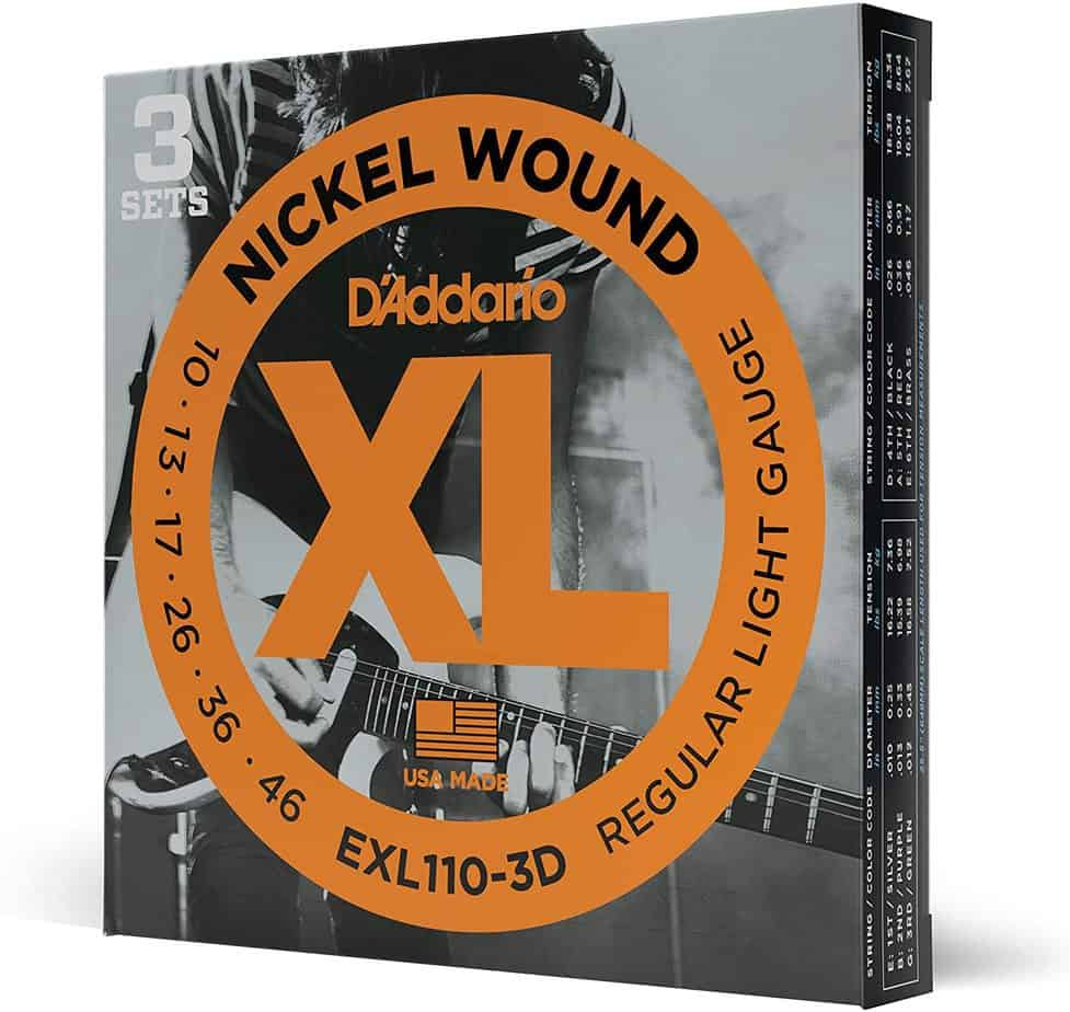D'Addario EXL110 Nickel Light Electric Guitar Strings 3-Pack | Guitar Center