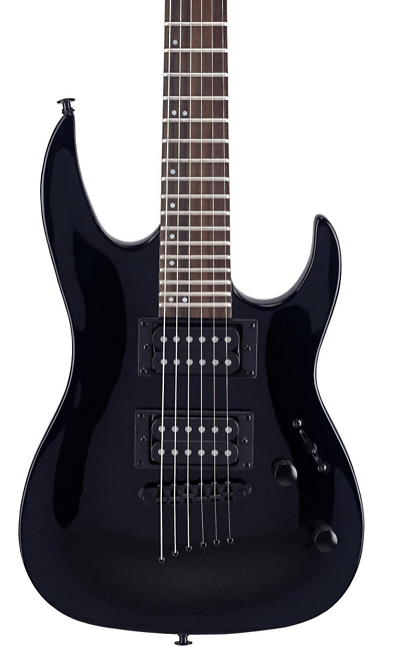 Mitchell MM100 Mini Double Cutaway Electric Guitar Black | Guitar Center