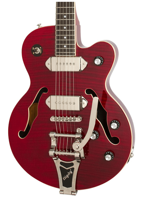Epiphone Wildkat Ltd Semi-Hollowbody Electric Guitar With Bigsby Wine Red | Guitar Center