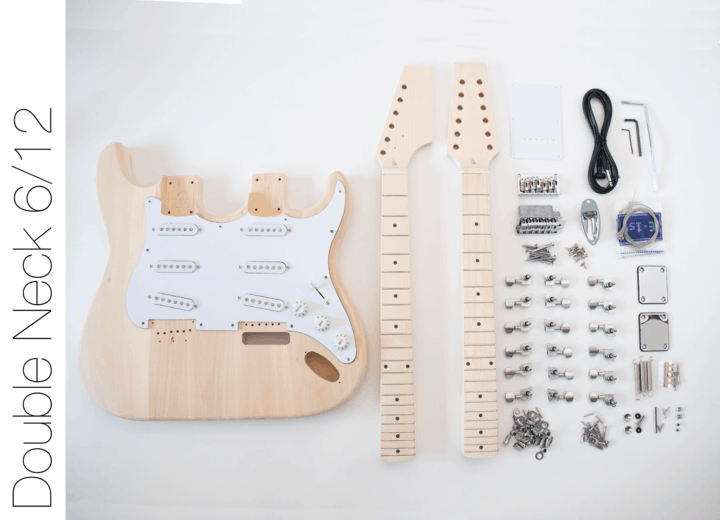 DIY Electric Guitar Kit - Double Neck 6 String 12 String Guitar | The Fretwire