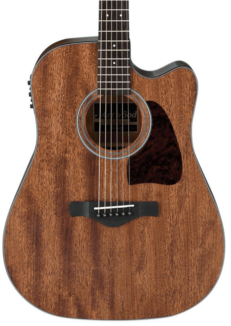 Ibanez AW54CEOPN Artwood Dreadnought Acoustic-Electric Guitar Open Pore Natural | Guitar Center