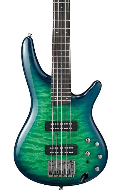 Ibanez SR405EQM Quilted Maple 5-String Electric Bass Guitar Dragon Eye Burst   Guitar Center