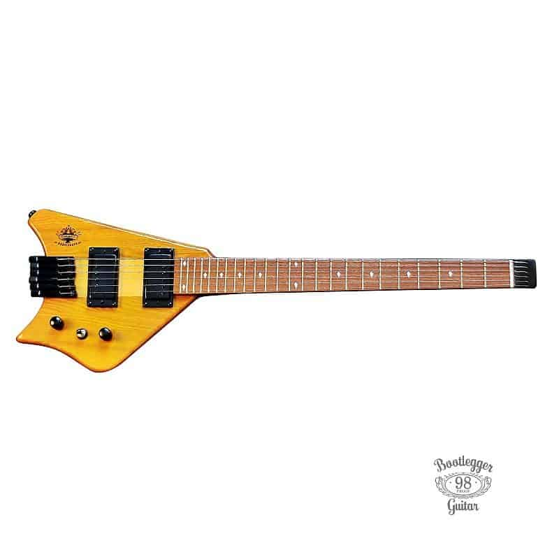 Bootlegger Guitar Spade Clear Honey Headless With Stiletto    Reverb