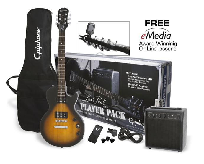 Epiphone Les Paul Electric Guitar Player Pack | Guitar Center