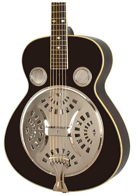Rogue Classic Spider Resonator Black Roundneck | Guitar Center