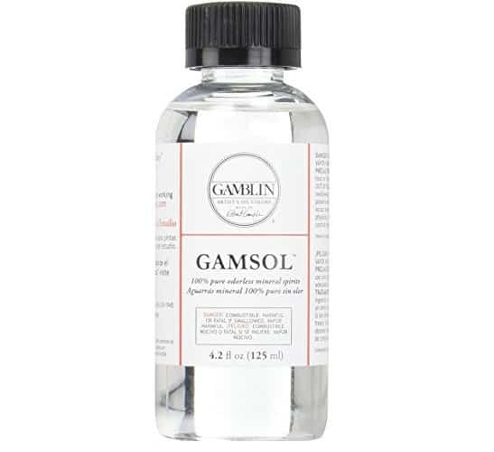 Gamblin Gamsol Odorless Mineral Spirits Bottle   Amazon