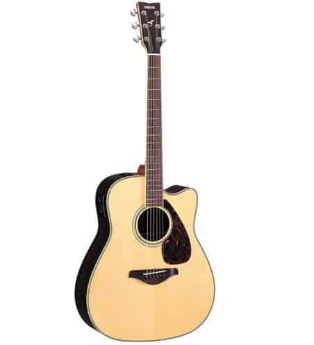 Yamaha FGX730SC Solid Top Acoustic-Electric Guitar   Amazon